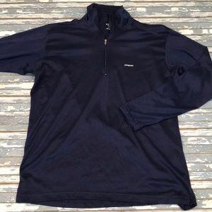 🔥 Patagonia men's L blue pullover fleece EUC